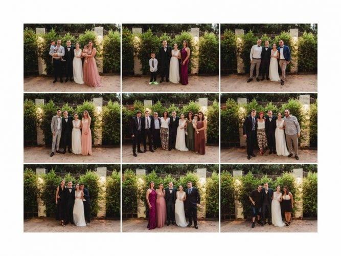 Fotografias posadas con invitados