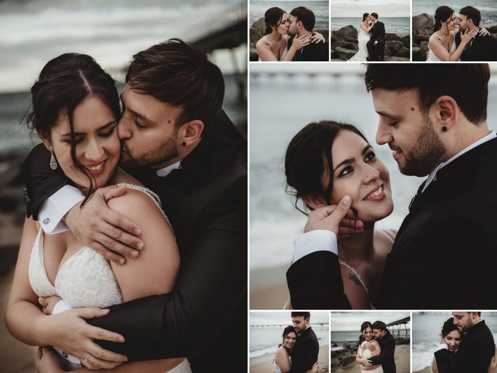 Fotografia de boda playa
