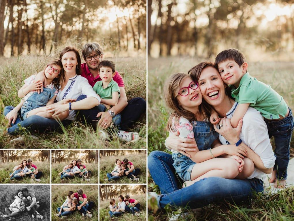 Fotografa de familias en exterior