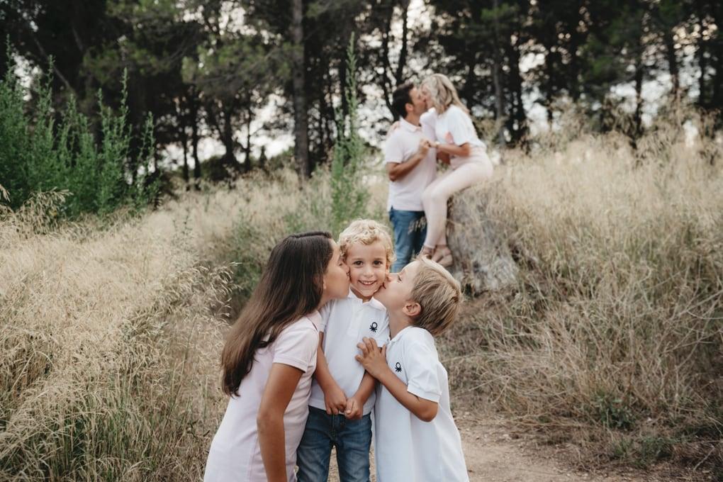 Sesión de fotos natural en familia