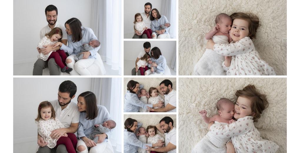 reportaje recién nacido en familia