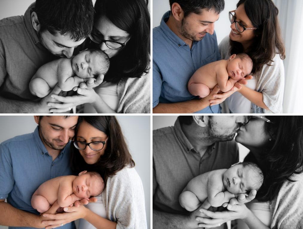 Familia con recien nacido