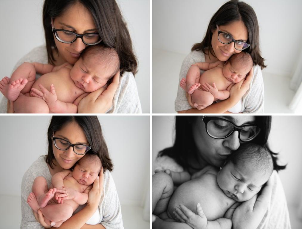 mama con su bebe en brazos