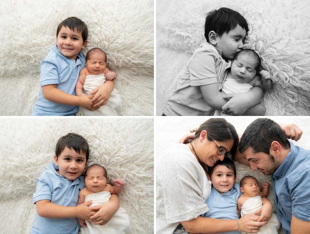 Sesion recien nacido con hermanos
